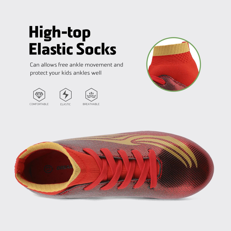miniature 29 - Dream Paires Garçons Filles Soccer Football Crampons Chaussures (Bébé/Petit enfant/Big Kid)