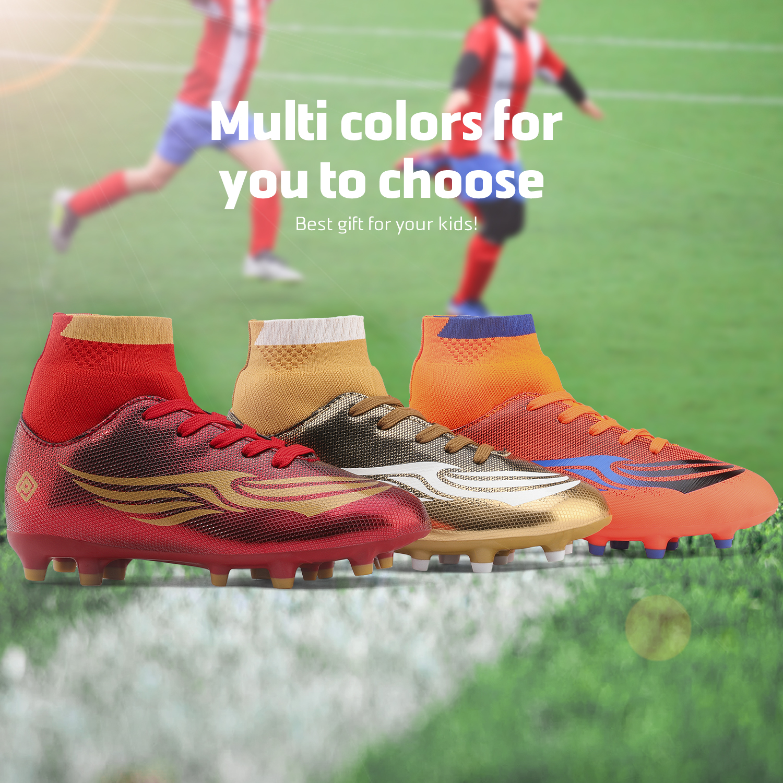 miniature 37 - Dream Paires Garçons Filles Soccer Football Crampons Chaussures (Bébé/Petit enfant/Big Kid)