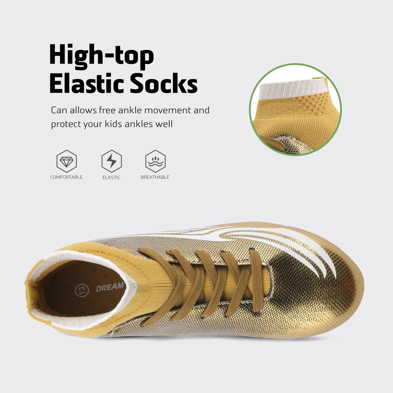 miniature 35 - Dream Paires Garçons Filles Soccer Football Crampons Chaussures (Bébé/Petit enfant/Big Kid)