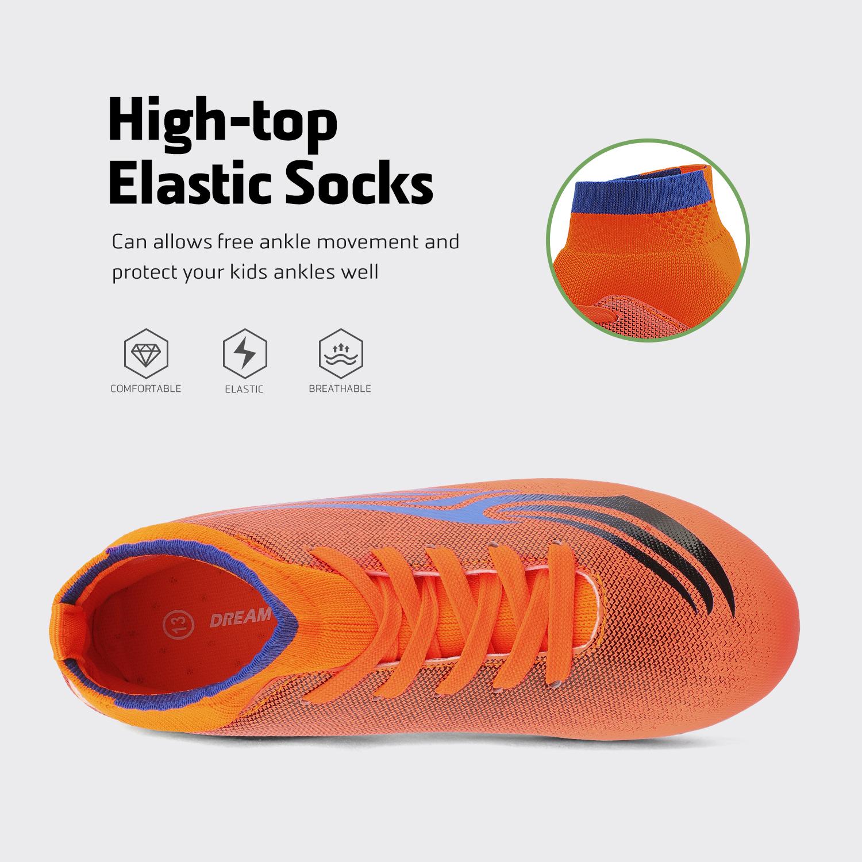 miniature 41 - Dream Paires Garçons Filles Soccer Football Crampons Chaussures (Bébé/Petit enfant/Big Kid)