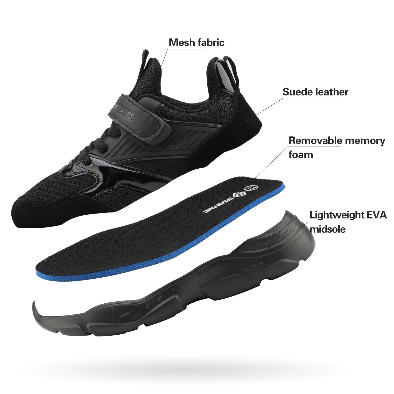 DREAM PAIRS Boys Girls Trainers Mesh Running Slip on Walking Shoes
