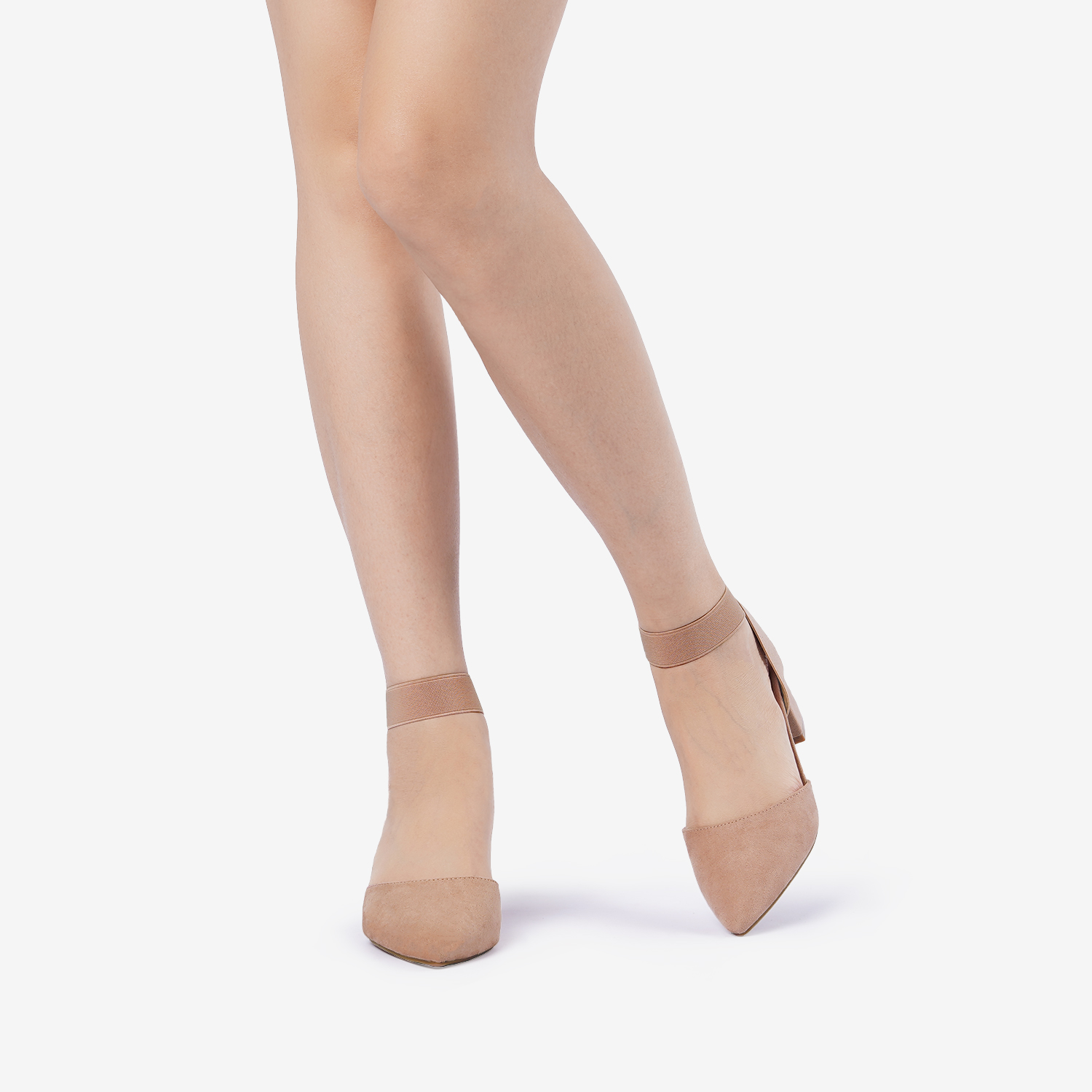 thumbnail 19 - Women-039-s-Elastic-Ankle-Strap-Pointed-Toe-Pump-Shoes-Low-Chunky-Heel-Dress-Pumps
