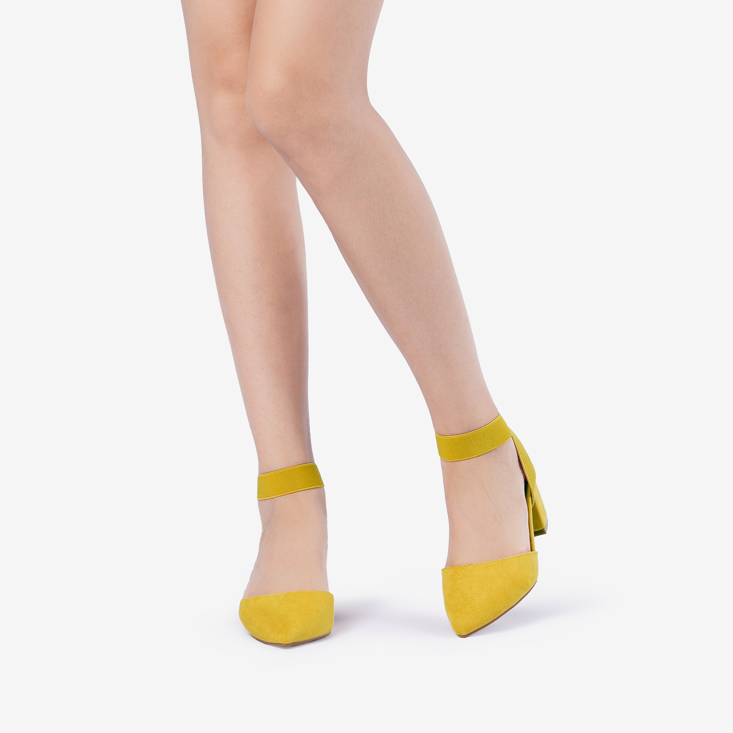 thumbnail 43 - Women-039-s-Elastic-Ankle-Strap-Pointed-Toe-Pump-Shoes-Low-Chunky-Heel-Dress-Pumps