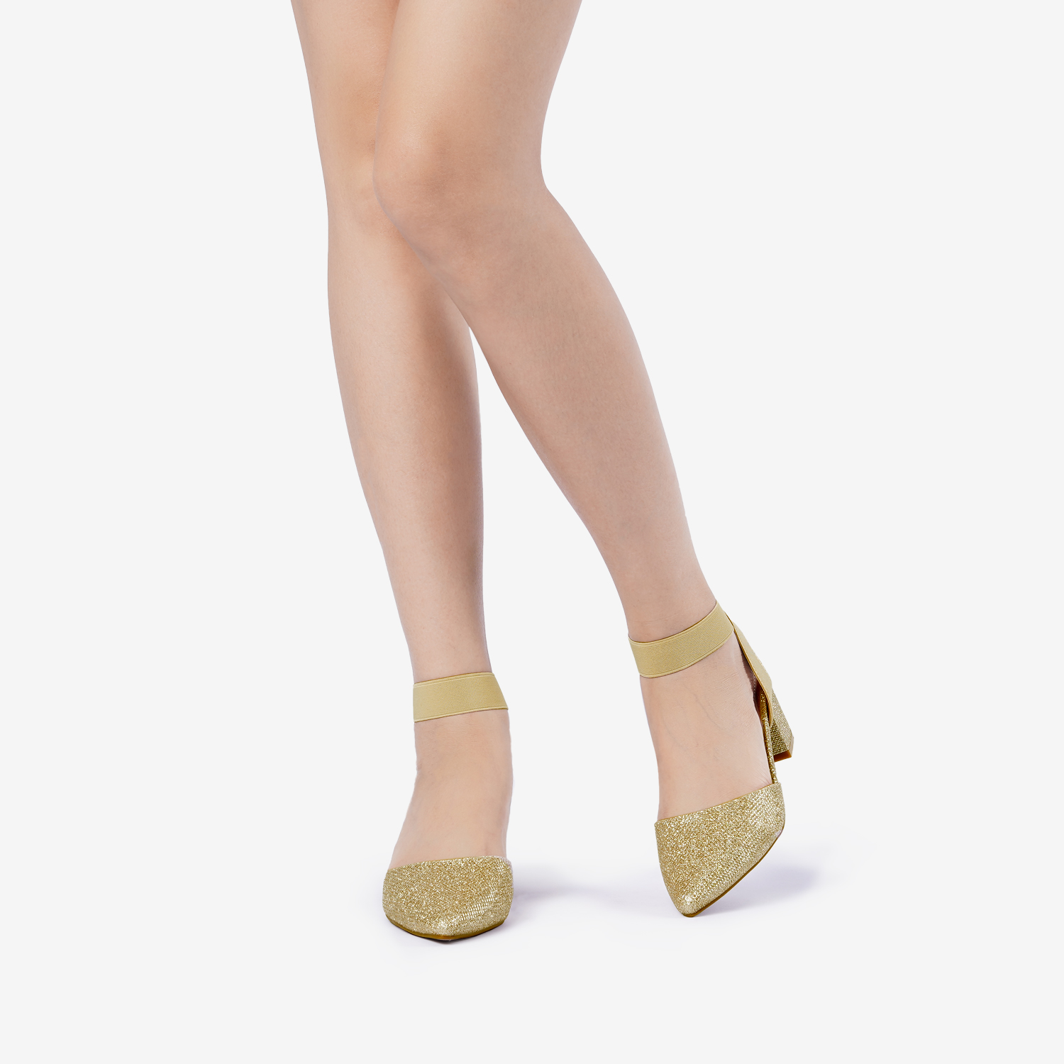 thumbnail 31 - Women-039-s-Elastic-Ankle-Strap-Pointed-Toe-Pump-Shoes-Low-Chunky-Heel-Dress-Pumps