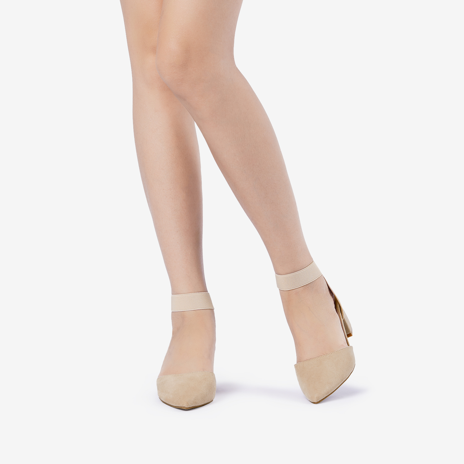 thumbnail 55 - Women-039-s-Elastic-Ankle-Strap-Pointed-Toe-Pump-Shoes-Low-Chunky-Heel-Dress-Pumps