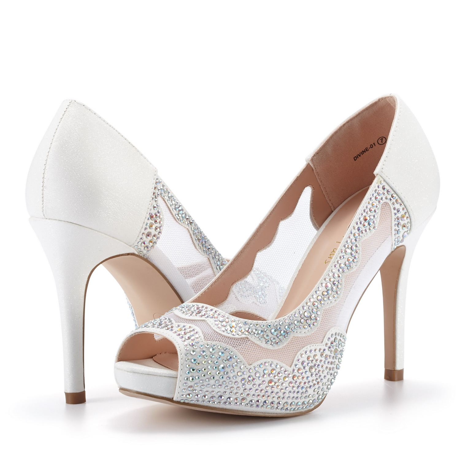 DREAM-PAIRS-Women-Divine-01-Peep-Toe-Dress-Wedding-High-Heels-Pump-Shoes-Sandals thumbnail 23