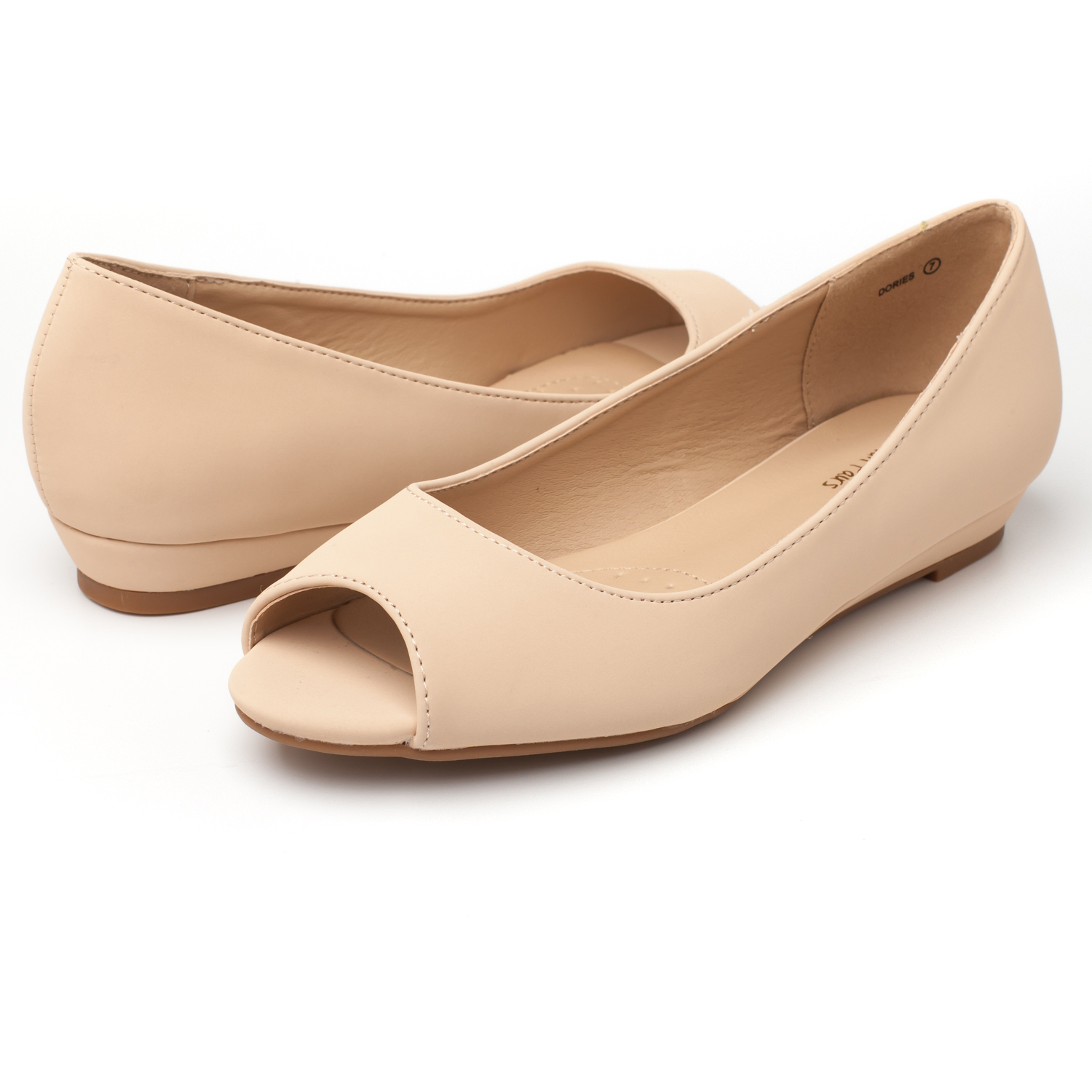DREAM-PAIRS-Womens-Ballet-Flats-Low-Heel-Open-Toe-Slip-On-Dress-Flat-Shoes thumbnail 47