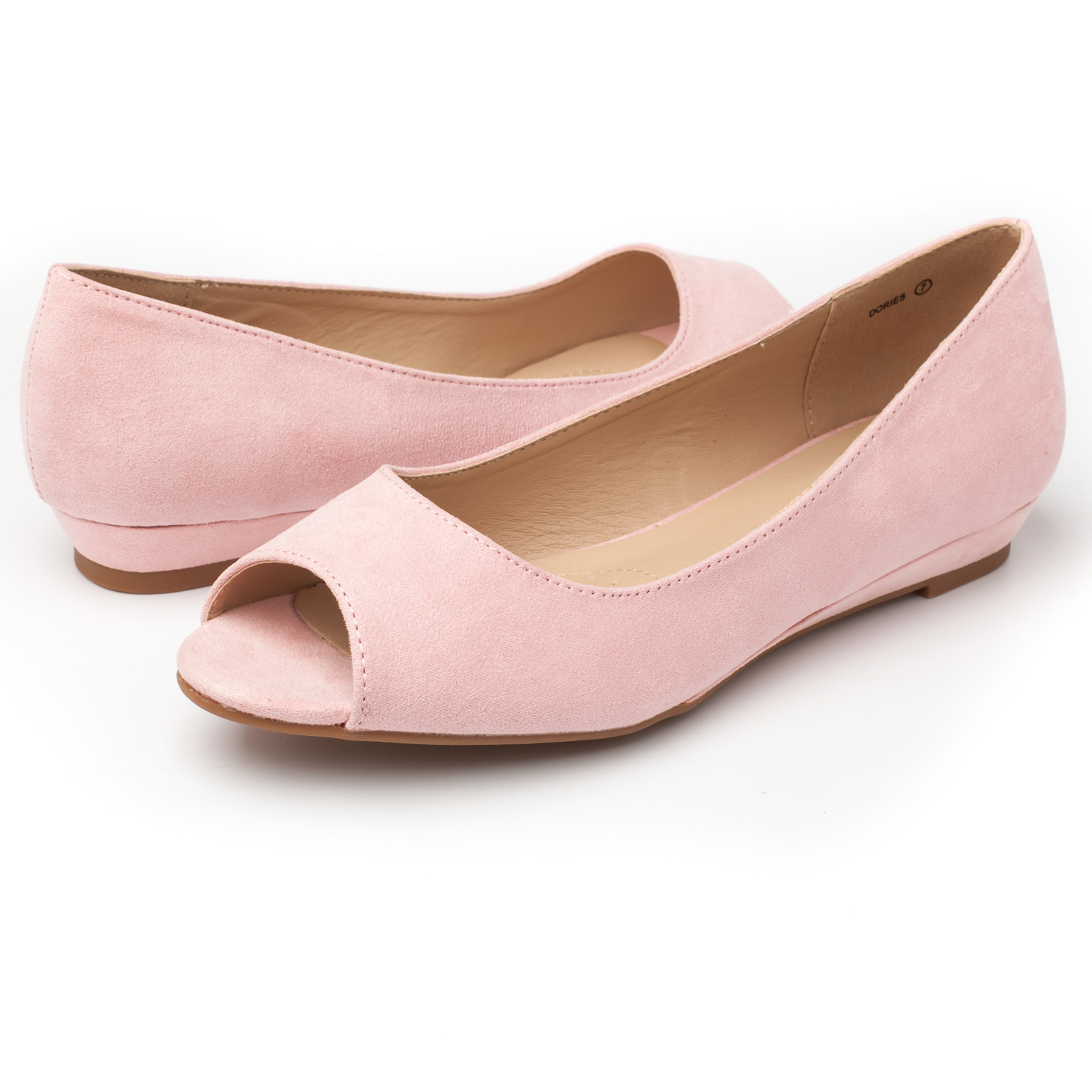 DREAM-PAIRS-Womens-Ballet-Flats-Low-Heel-Open-Toe-Slip-On-Dress-Flat-Shoes thumbnail 7