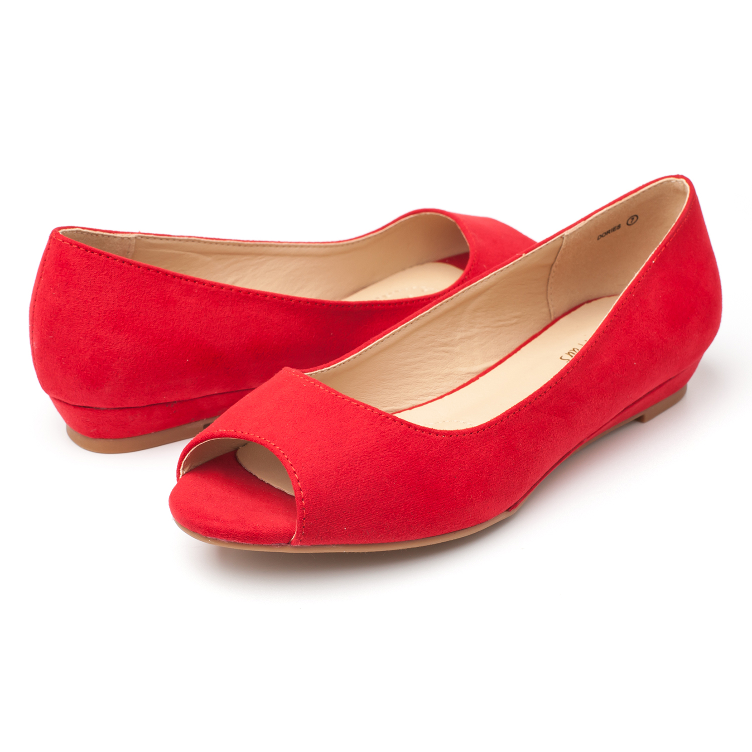 DREAM-PAIRS-Womens-Ballet-Flats-Low-Heel-Open-Toe-Slip-On-Dress-Flat-Shoes thumbnail 3