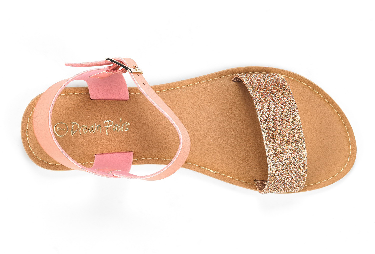 DREAM-PAIRS-Women-HOBOO-NEW-Open-Toes-One-Band-Ankle-Strap-Flexible-Flat-Sandals