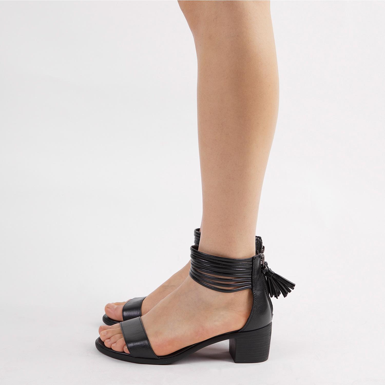 TOETOS-Women-IVY-Summer-Open-Toe-Ankle-Strap-Zipper-Low-Wedge-Block-Heel-Sandals thumbnail 82