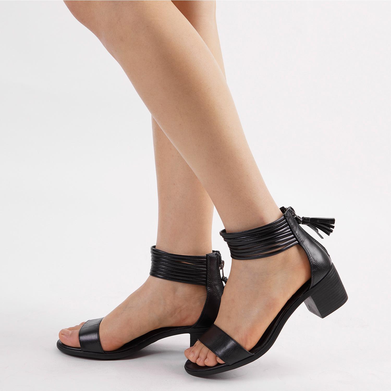 TOETOS-Women-IVY-Summer-Open-Toe-Ankle-Strap-Zipper-Low-Wedge-Block-Heel-Sandals thumbnail 83