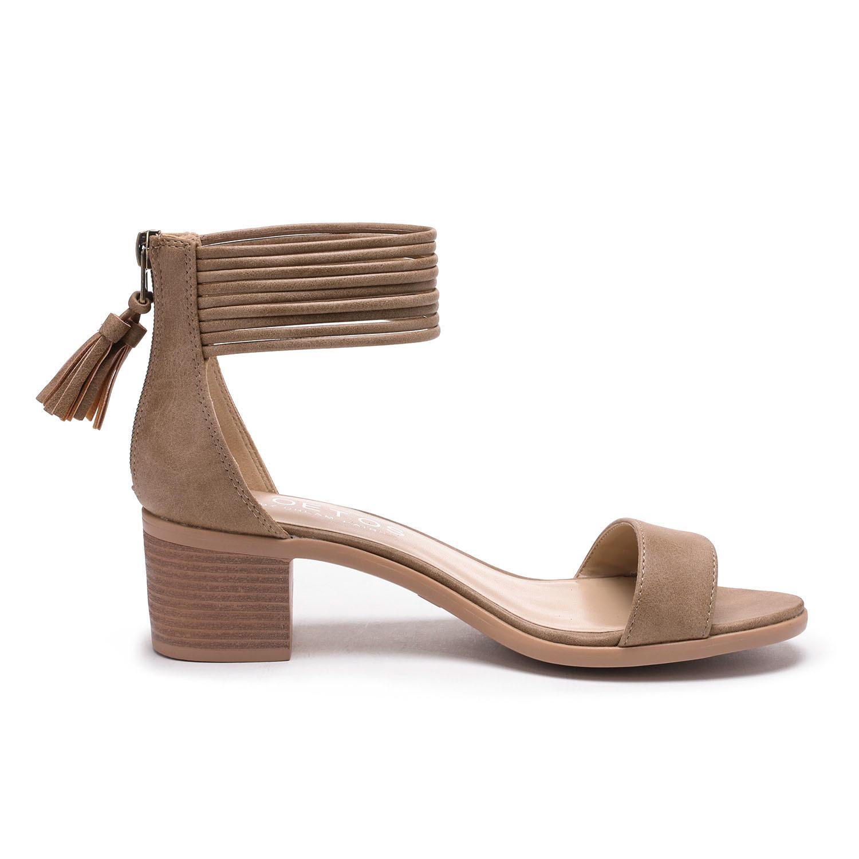 TOETOS-Women-IVY-Summer-Open-Toe-Ankle-Strap-Zipper-Low-Wedge-Block-Heel-Sandals thumbnail 71