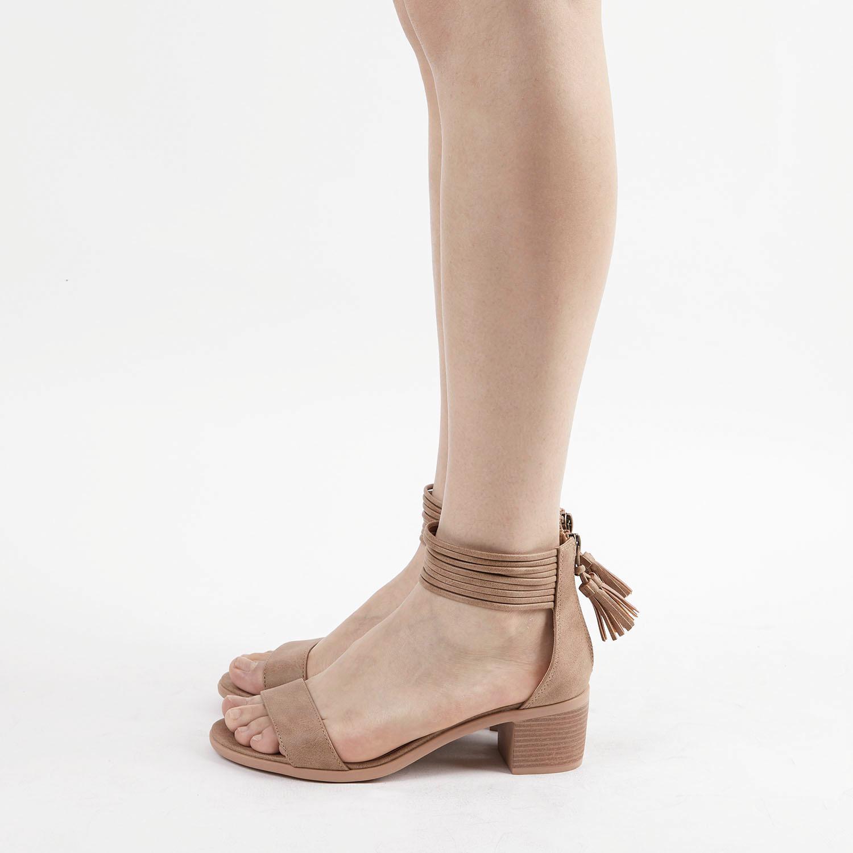 TOETOS-Women-IVY-Summer-Open-Toe-Ankle-Strap-Zipper-Low-Wedge-Block-Heel-Sandals thumbnail 75