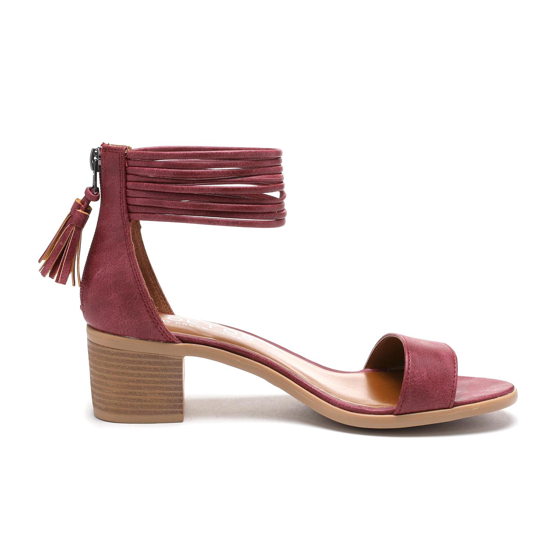 TOETOS-Women-IVY-Summer-Open-Toe-Ankle-Strap-Zipper-Low-Wedge-Block-Heel-Sandals thumbnail 22