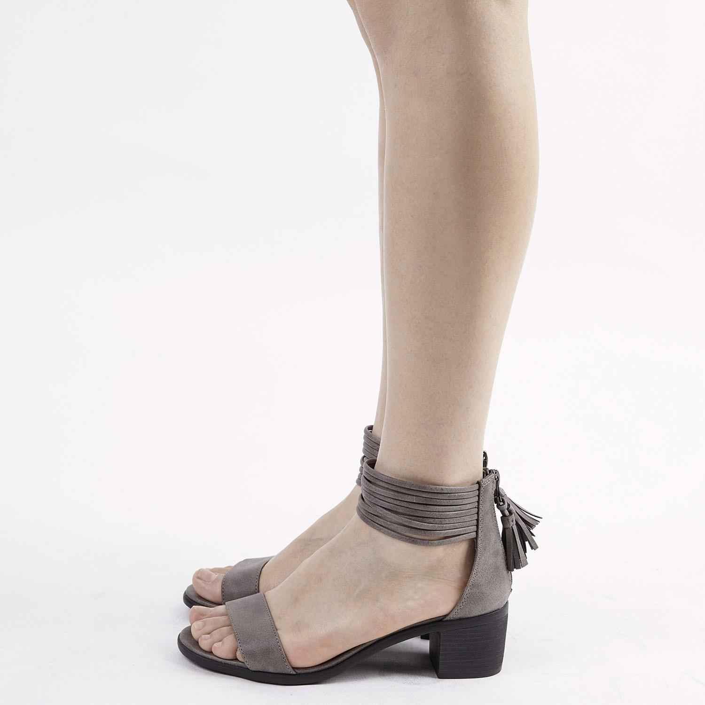 TOETOS-Women-IVY-Summer-Open-Toe-Ankle-Strap-Zipper-Low-Wedge-Block-Heel-Sandals thumbnail 40