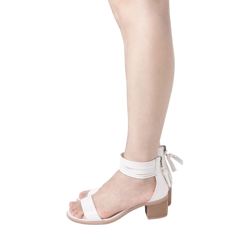 TOETOS-Women-IVY-Summer-Open-Toe-Ankle-Strap-Zipper-Low-Wedge-Block-Heel-Sandals thumbnail 68