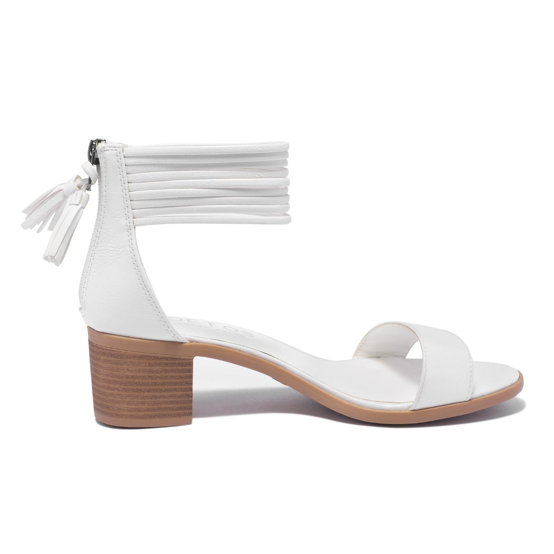 TOETOS-Women-IVY-Summer-Open-Toe-Ankle-Strap-Zipper-Low-Wedge-Block-Heel-Sandals thumbnail 64