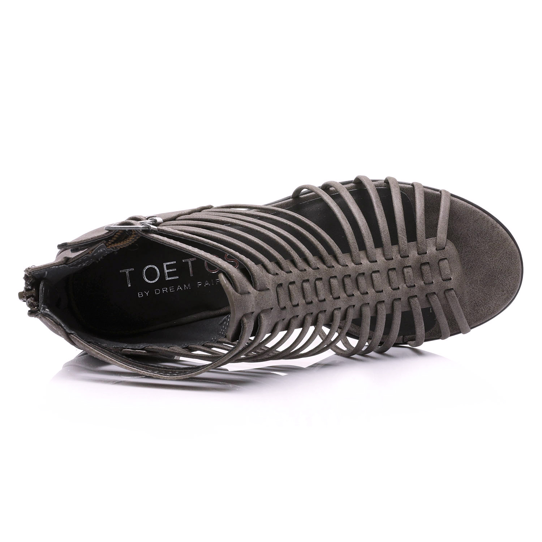 TOETOS-Women-IVY-Summer-Open-Toe-Ankle-Strap-Zipper-Low-Wedge-Block-Heel-Sandals thumbnail 30