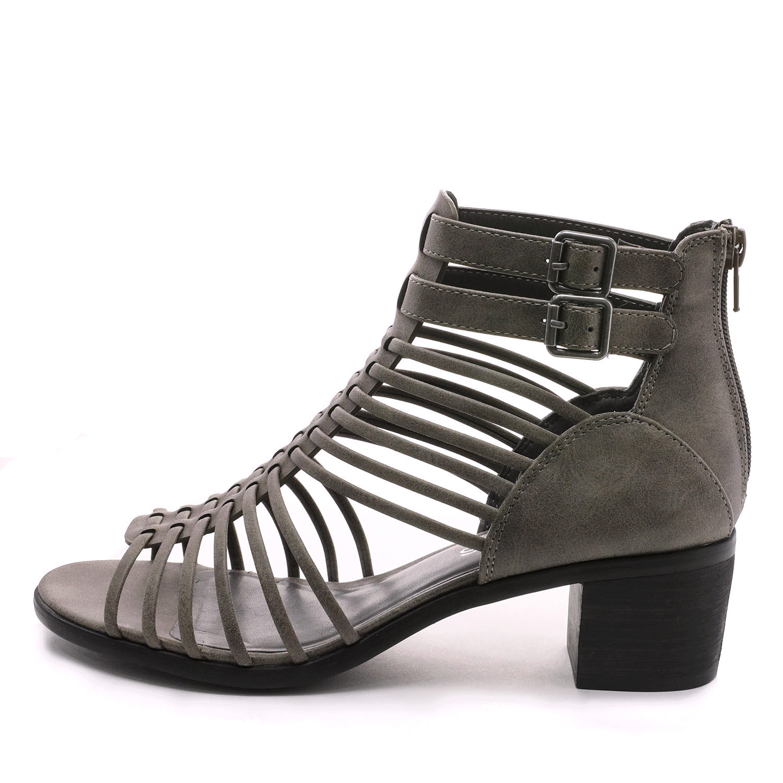 TOETOS-Women-IVY-Summer-Open-Toe-Ankle-Strap-Zipper-Low-Wedge-Block-Heel-Sandals thumbnail 29