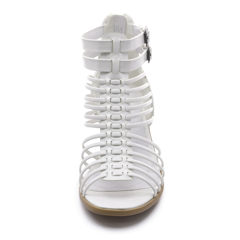 TOETOS-Women-IVY-Summer-Open-Toe-Ankle-Strap-Zipper-Low-Wedge-Block-Heel-Sandals thumbnail 45