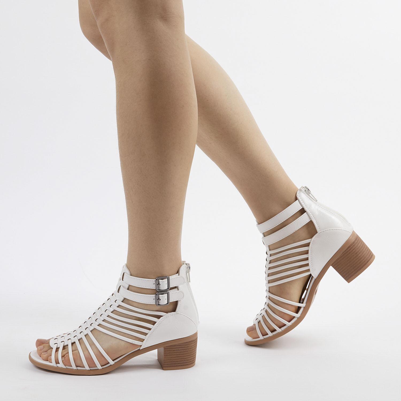TOETOS-Women-IVY-Summer-Open-Toe-Ankle-Strap-Zipper-Low-Wedge-Block-Heel-Sandals thumbnail 48