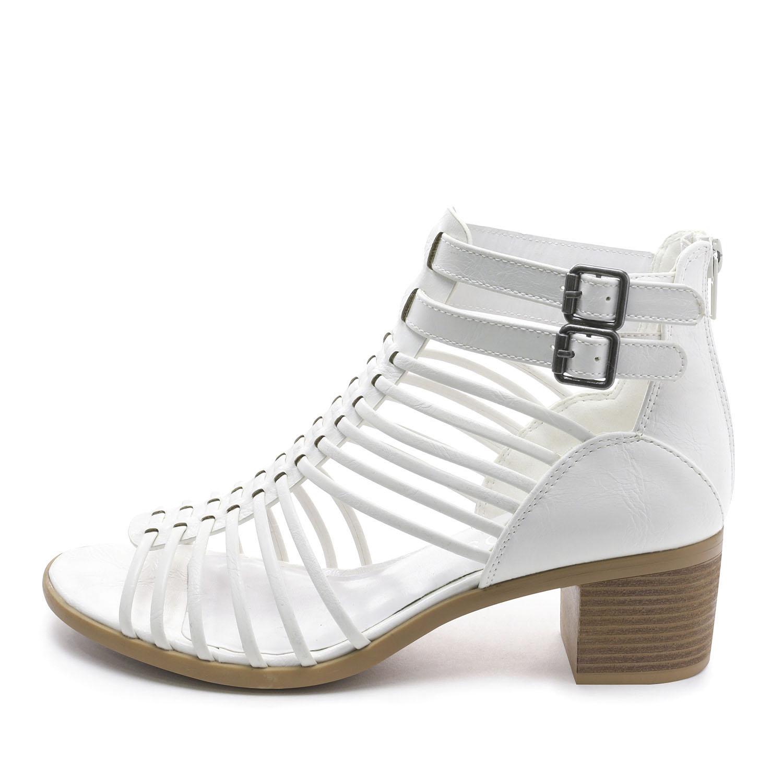 TOETOS-Women-IVY-Summer-Open-Toe-Ankle-Strap-Zipper-Low-Wedge-Block-Heel-Sandals thumbnail 43