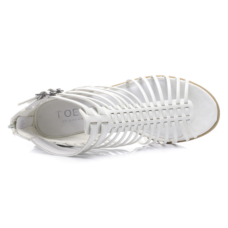 TOETOS-Women-IVY-Summer-Open-Toe-Ankle-Strap-Zipper-Low-Wedge-Block-Heel-Sandals thumbnail 44