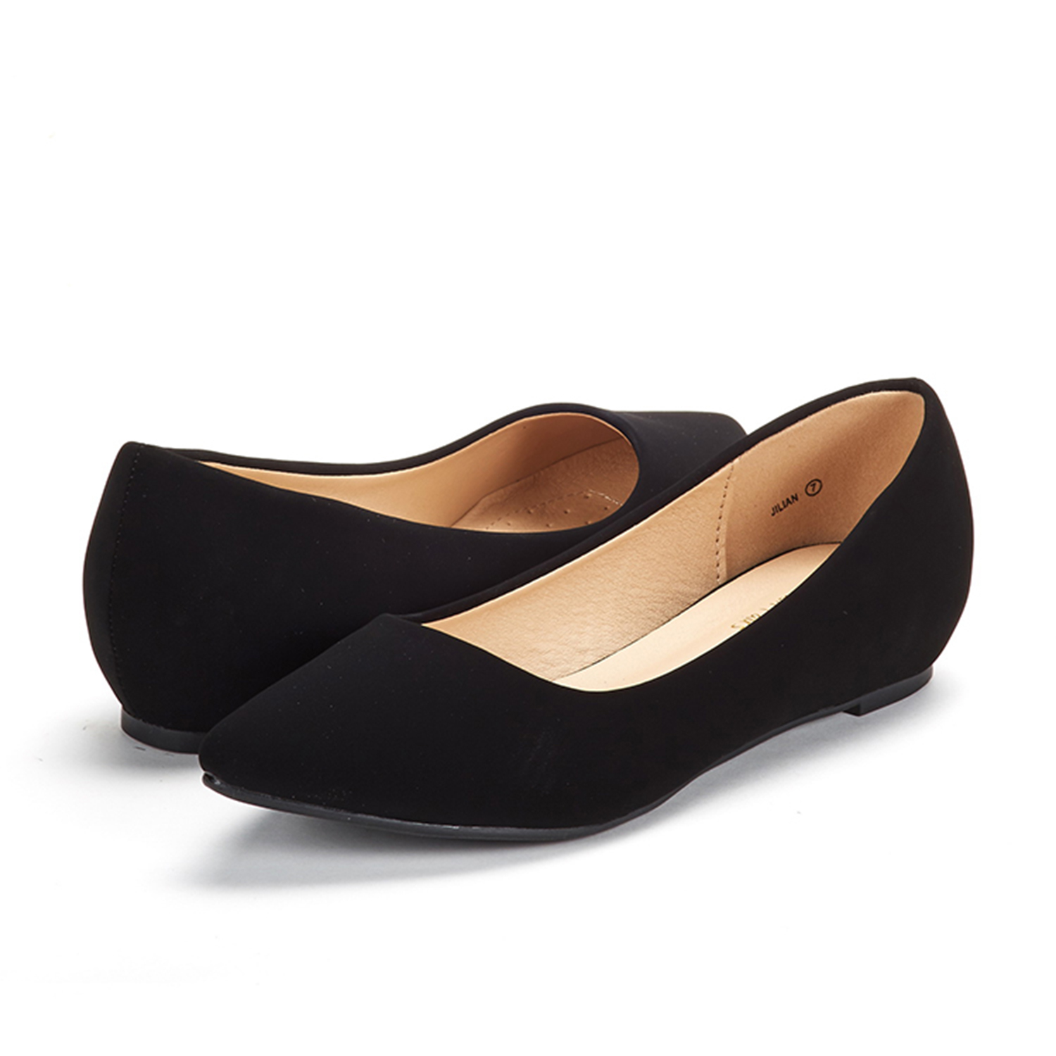 DREAM-PAIRS-Women-Low-Wedge-Flats-Ladies-Pointed-Toe-Slip-On-Comfort-Flat-Shoes thumbnail 95