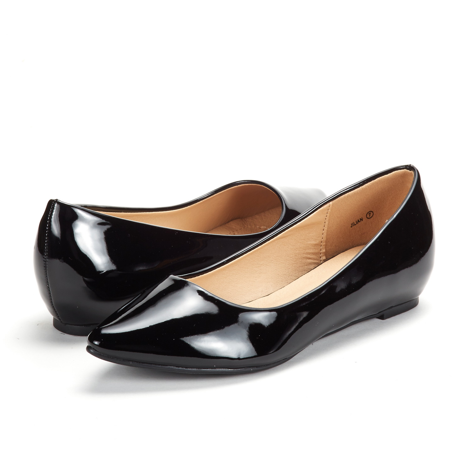DREAM-PAIRS-Women-Low-Wedge-Flats-Ladies-Pointed-Toe-Slip-On-Comfort-Flat-Shoes thumbnail 43