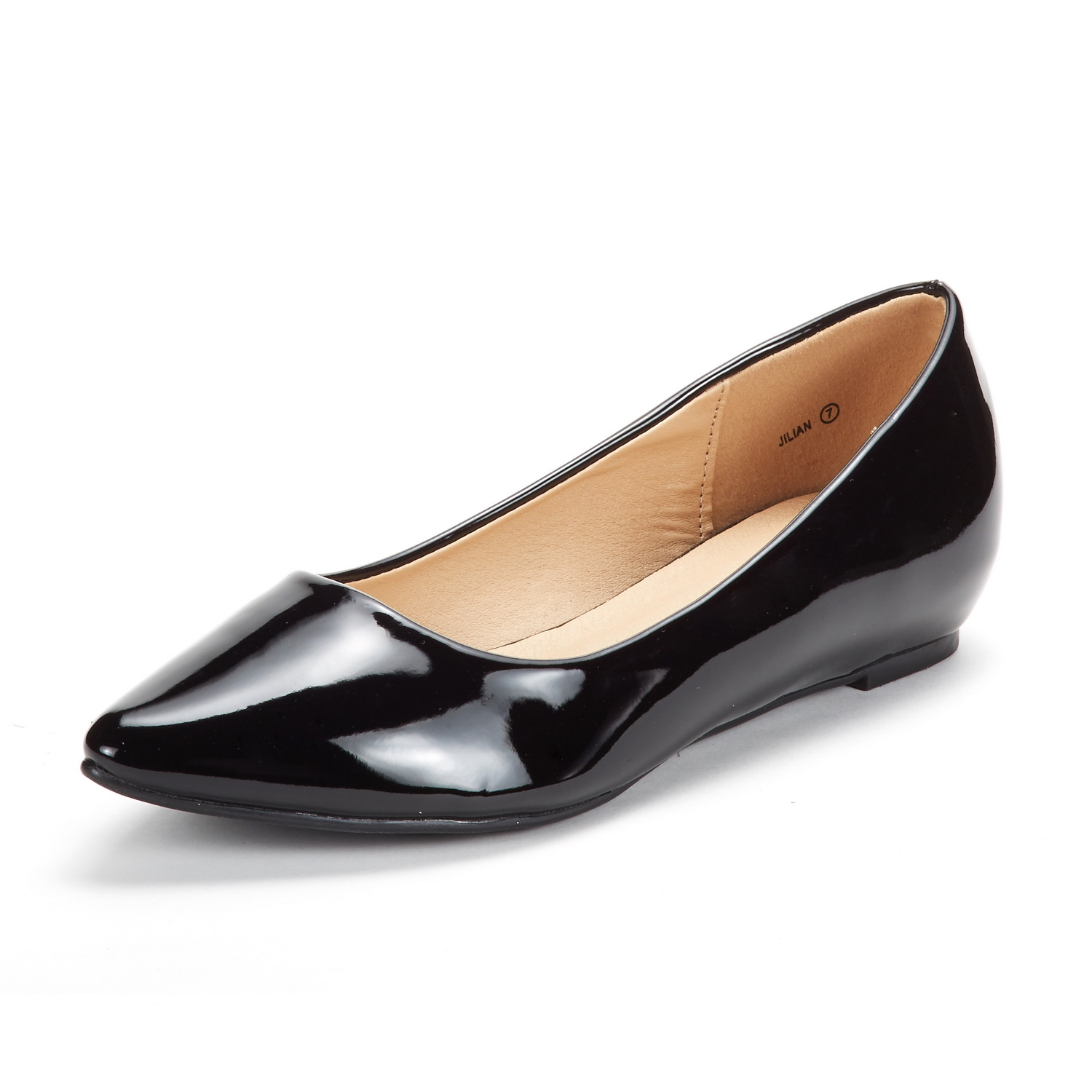 DREAM-PAIRS-Women-Low-Wedge-Flats-Ladies-Pointed-Toe-Slip-On-Comfort-Flat-Shoes thumbnail 46