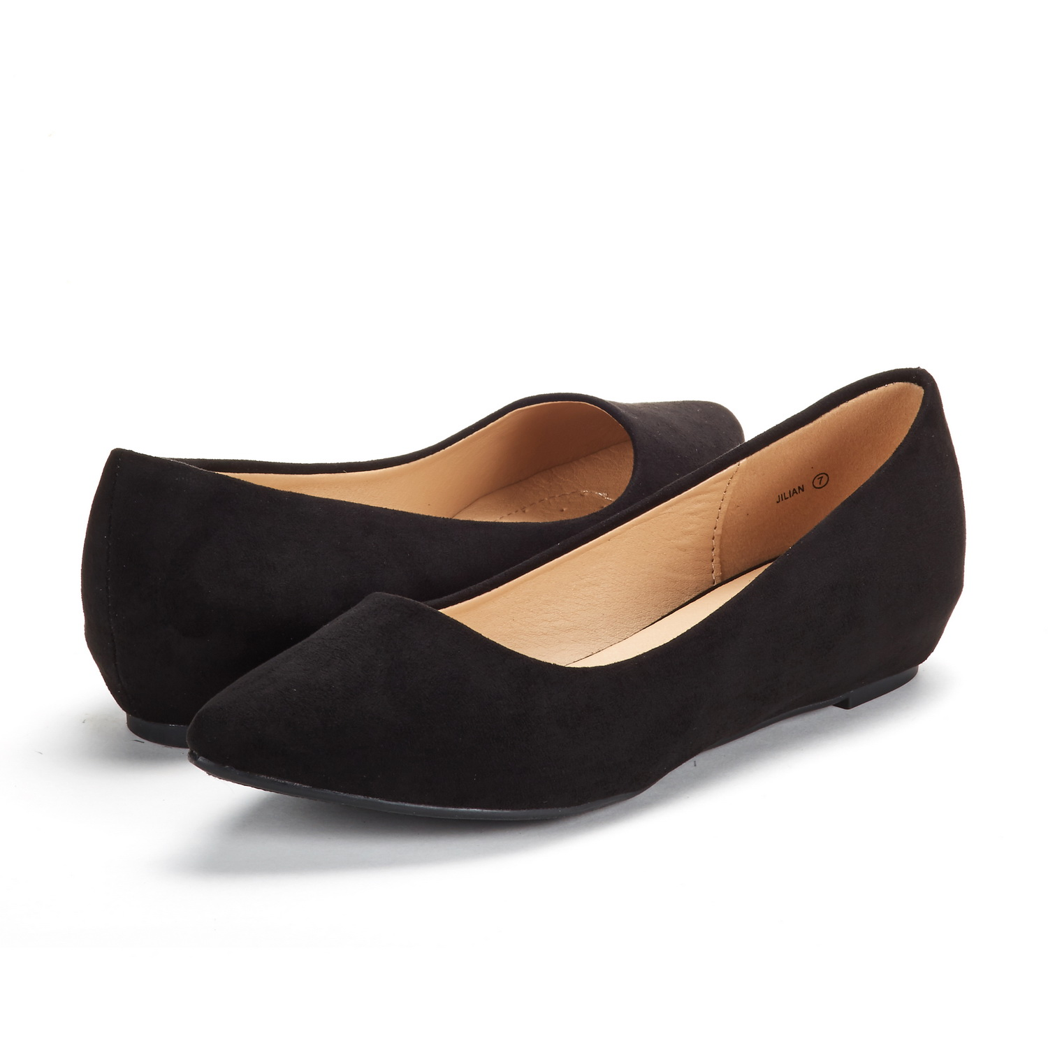 DREAM-PAIRS-Women-Low-Wedge-Flats-Ladies-Pointed-Toe-Slip-On-Comfort-Flat-Shoes thumbnail 63