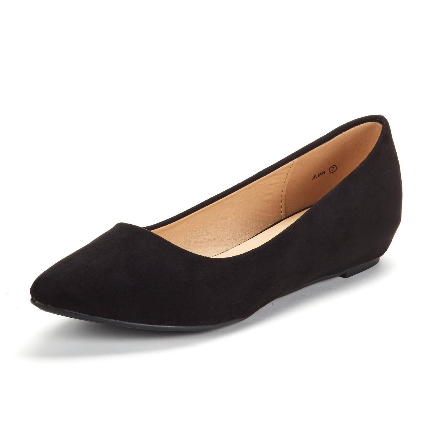 DREAM-PAIRS-Women-Low-Wedge-Flats-Ladies-Pointed-Toe-Slip-On-Comfort-Flat-Shoes thumbnail 62