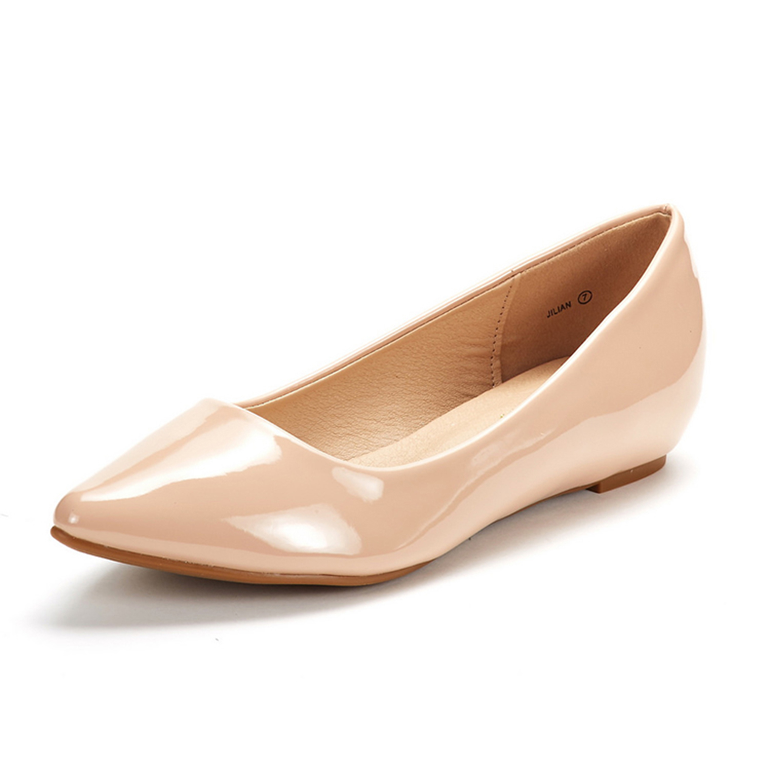 DREAM-PAIRS-Women-Low-Wedge-Flats-Ladies-Pointed-Toe-Slip-On-Comfort-Flat-Shoes thumbnail 90
