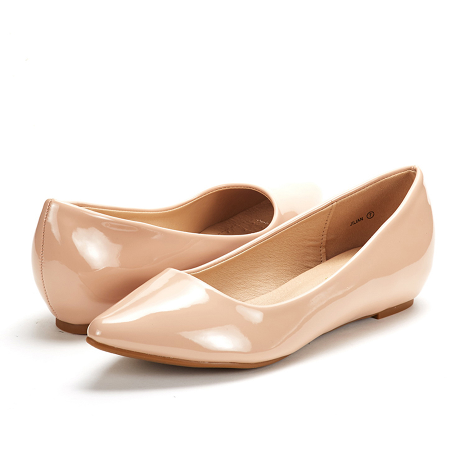 DREAM-PAIRS-Women-Low-Wedge-Flats-Ladies-Pointed-Toe-Slip-On-Comfort-Flat-Shoes thumbnail 91