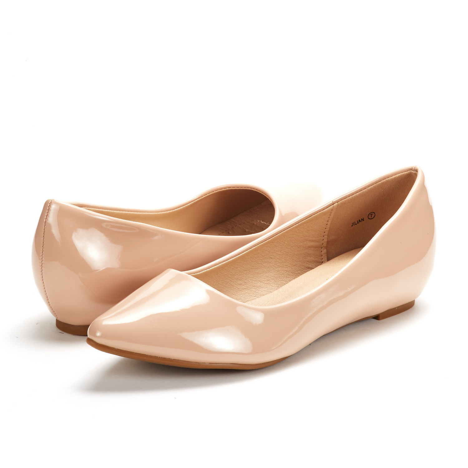 DREAM-PAIRS-Women-Low-Wedge-Flats-Ladies-Pointed-Toe-Slip-On-Comfort-Flat-Shoes thumbnail 87