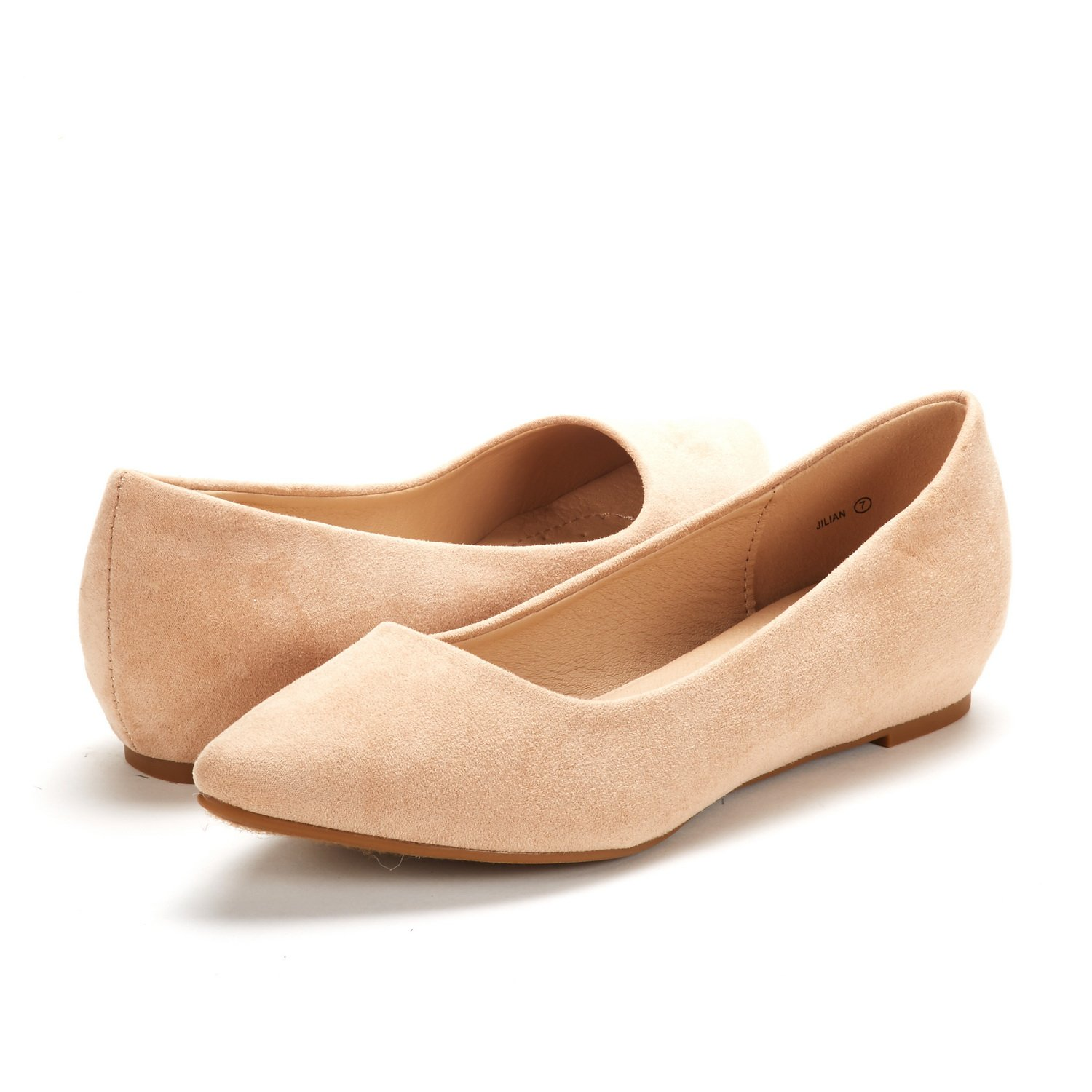 DREAM-PAIRS-Women-Low-Wedge-Flats-Ladies-Pointed-Toe-Slip-On-Comfort-Flat-Shoes thumbnail 51