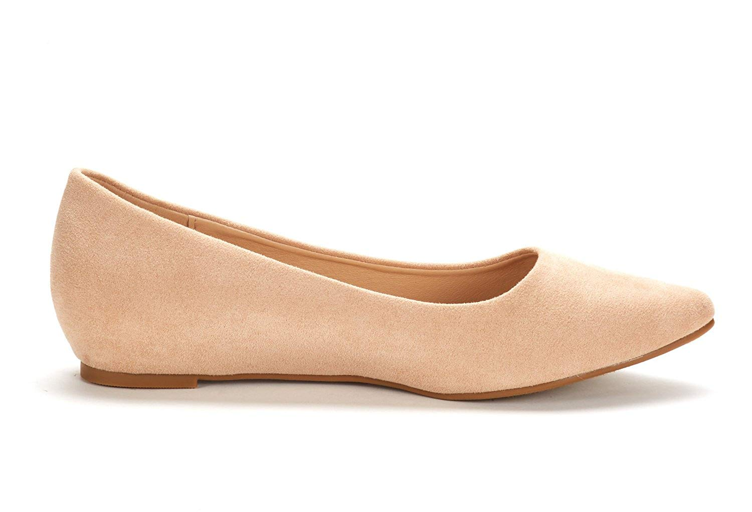 DREAM-PAIRS-Women-Low-Wedge-Flats-Ladies-Pointed-Toe-Slip-On-Comfort-Flat-Shoes thumbnail 52