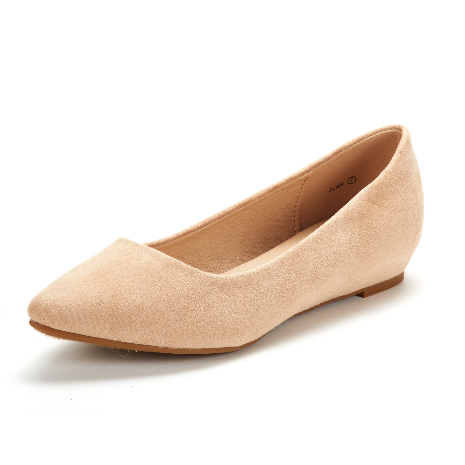 DREAM-PAIRS-Women-Low-Wedge-Flats-Ladies-Pointed-Toe-Slip-On-Comfort-Flat-Shoes thumbnail 54