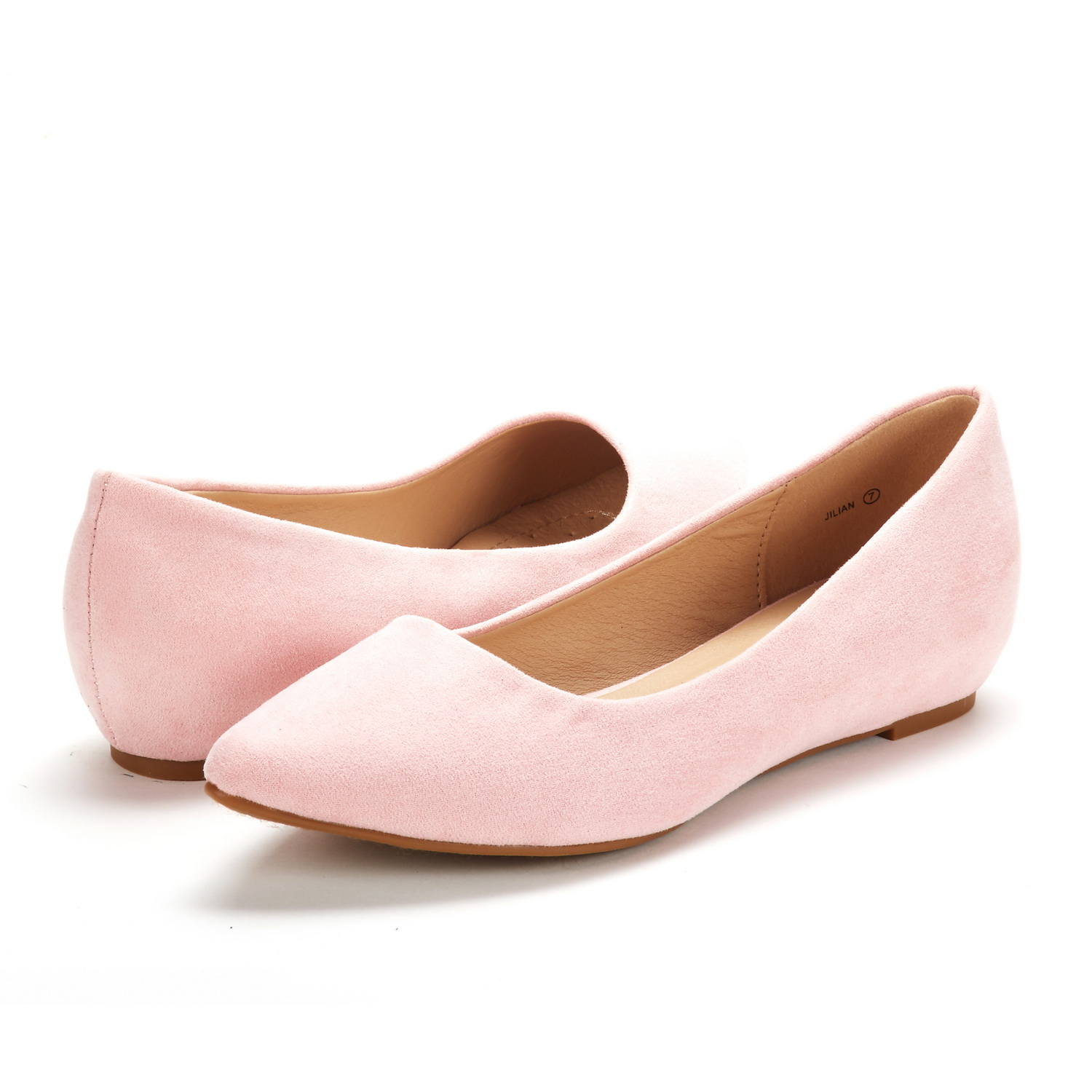 53c1a9858a8 DREAM PAIRS Womens Jilian Pointed-Toe Low Wedge Soft Lining Slip On ...