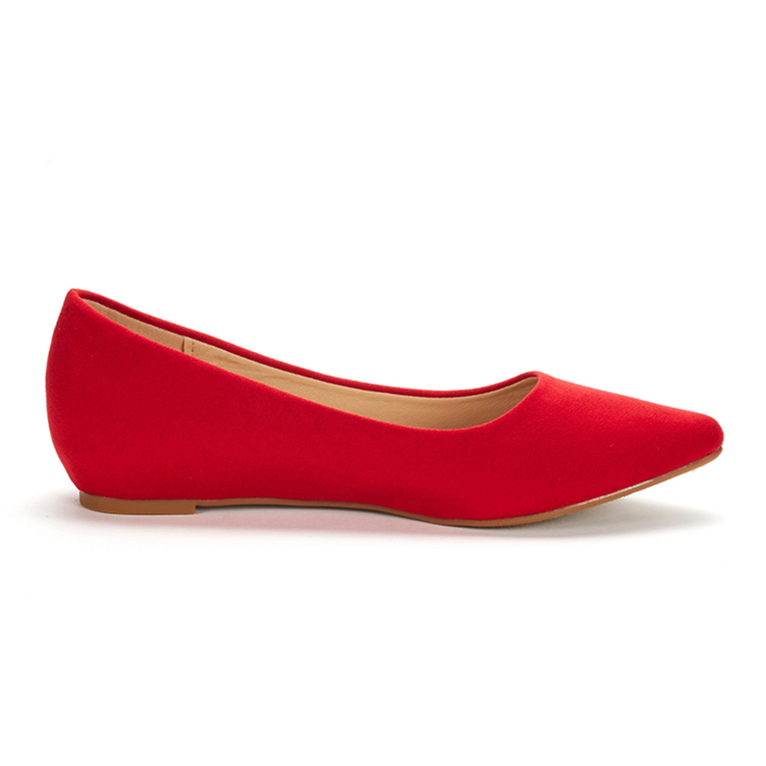 DREAM-PAIRS-Women-Low-Wedge-Flats-Ladies-Pointed-Toe-Slip-On-Comfort-Flat-Shoes thumbnail 4