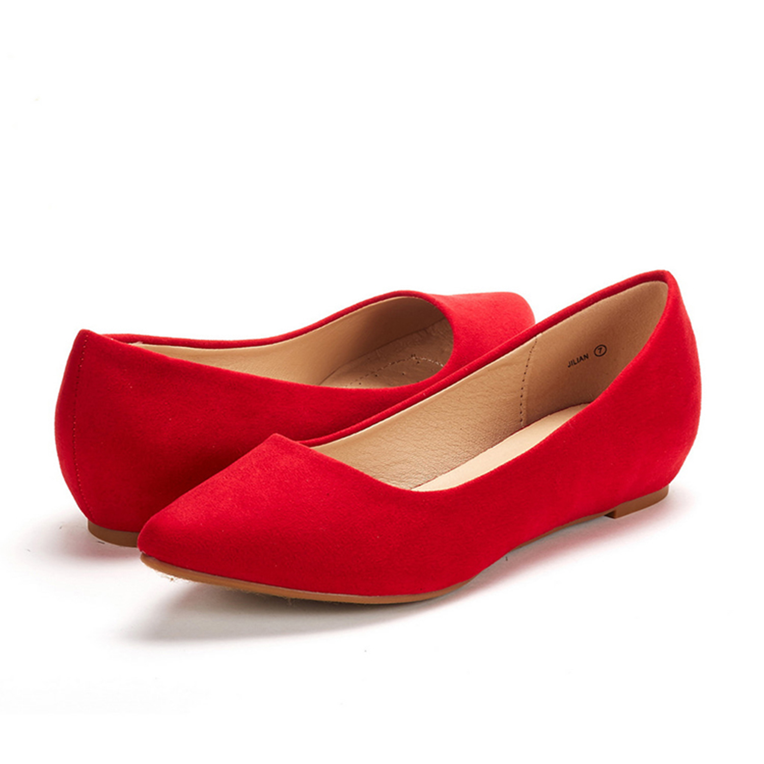 DREAM-PAIRS-Women-Low-Wedge-Flats-Ladies-Pointed-Toe-Slip-On-Comfort-Flat-Shoes thumbnail 3