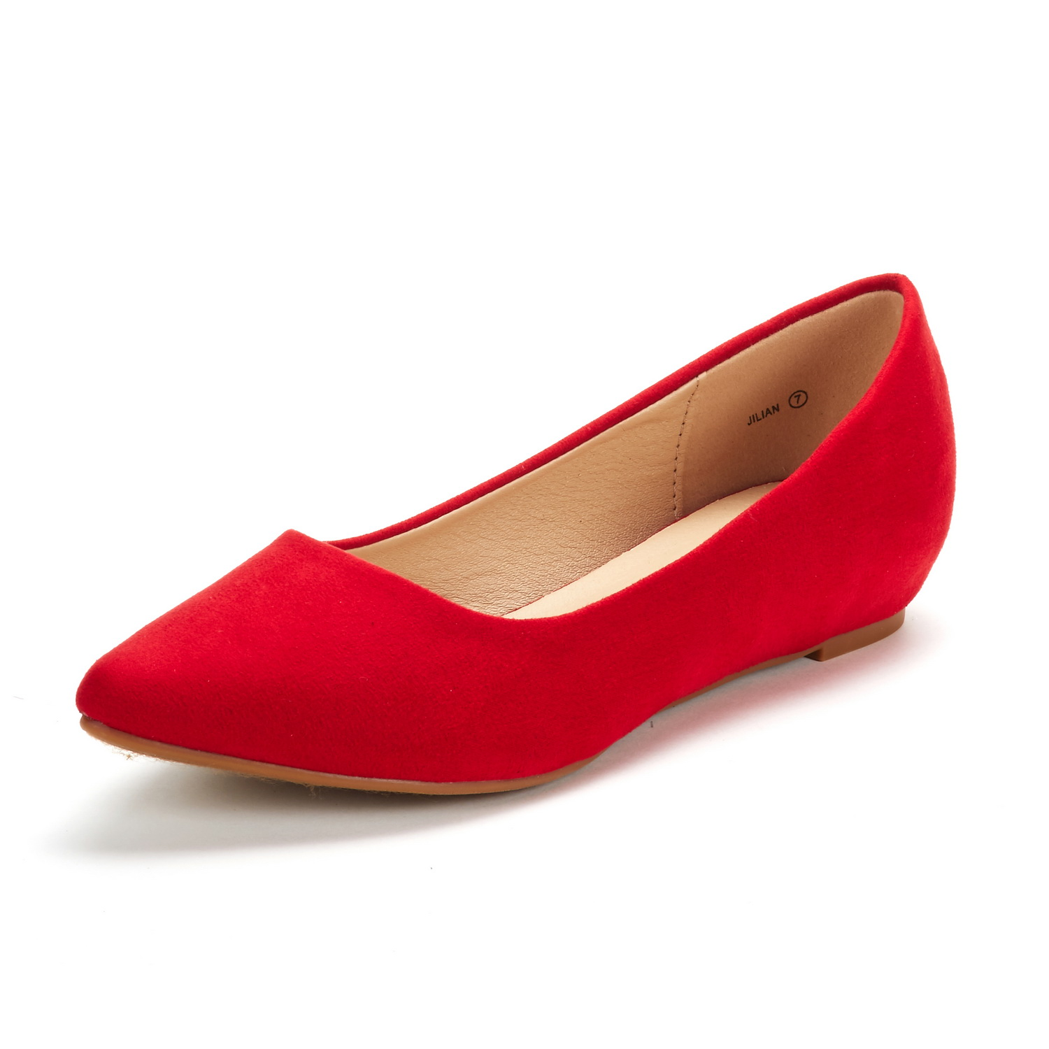 DREAM-PAIRS-Women-Low-Wedge-Flats-Ladies-Pointed-Toe-Slip-On-Comfort-Flat-Shoes thumbnail 6