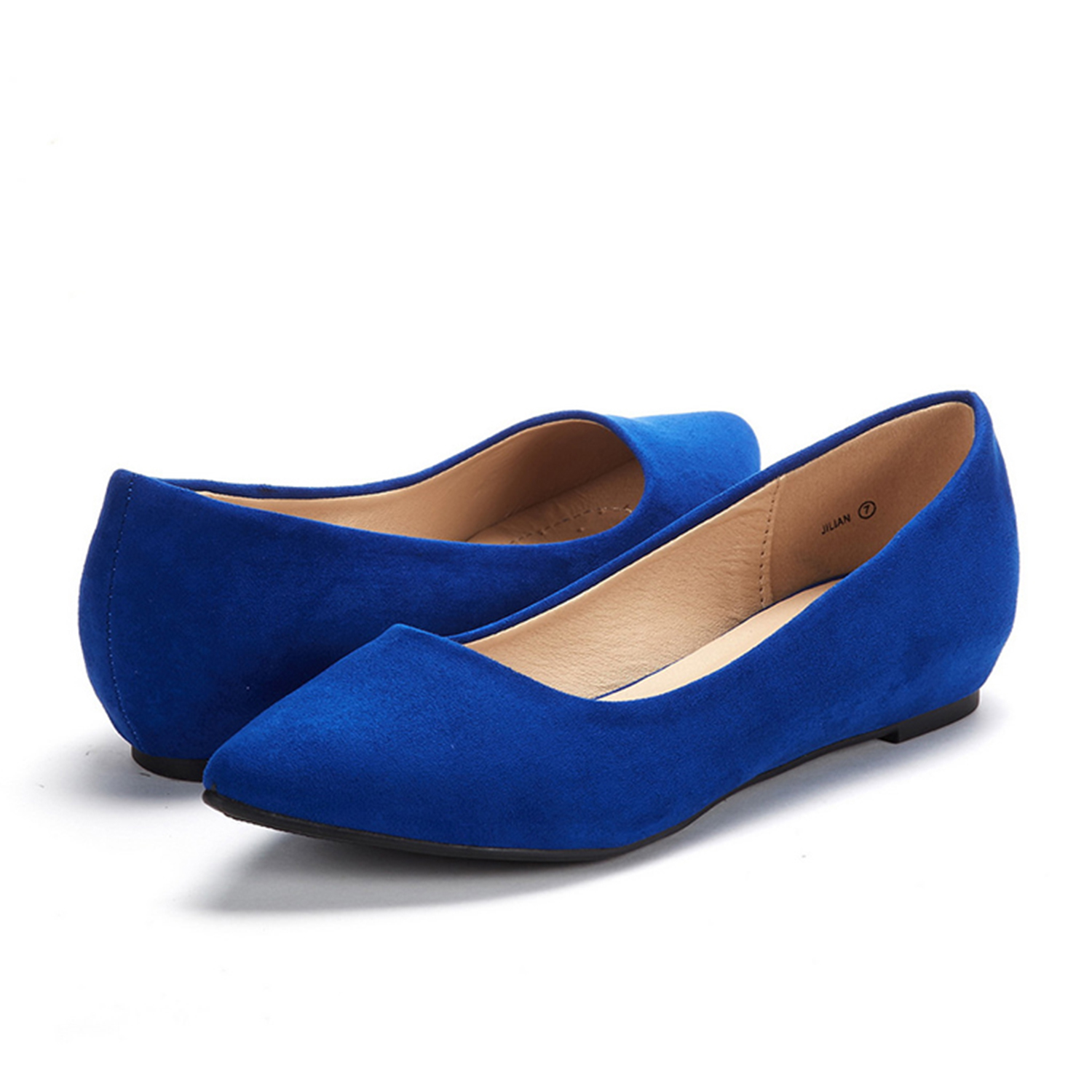 DREAM-PAIRS-Women-Low-Wedge-Flats-Ladies-Pointed-Toe-Slip-On-Comfort-Flat-Shoes thumbnail 11