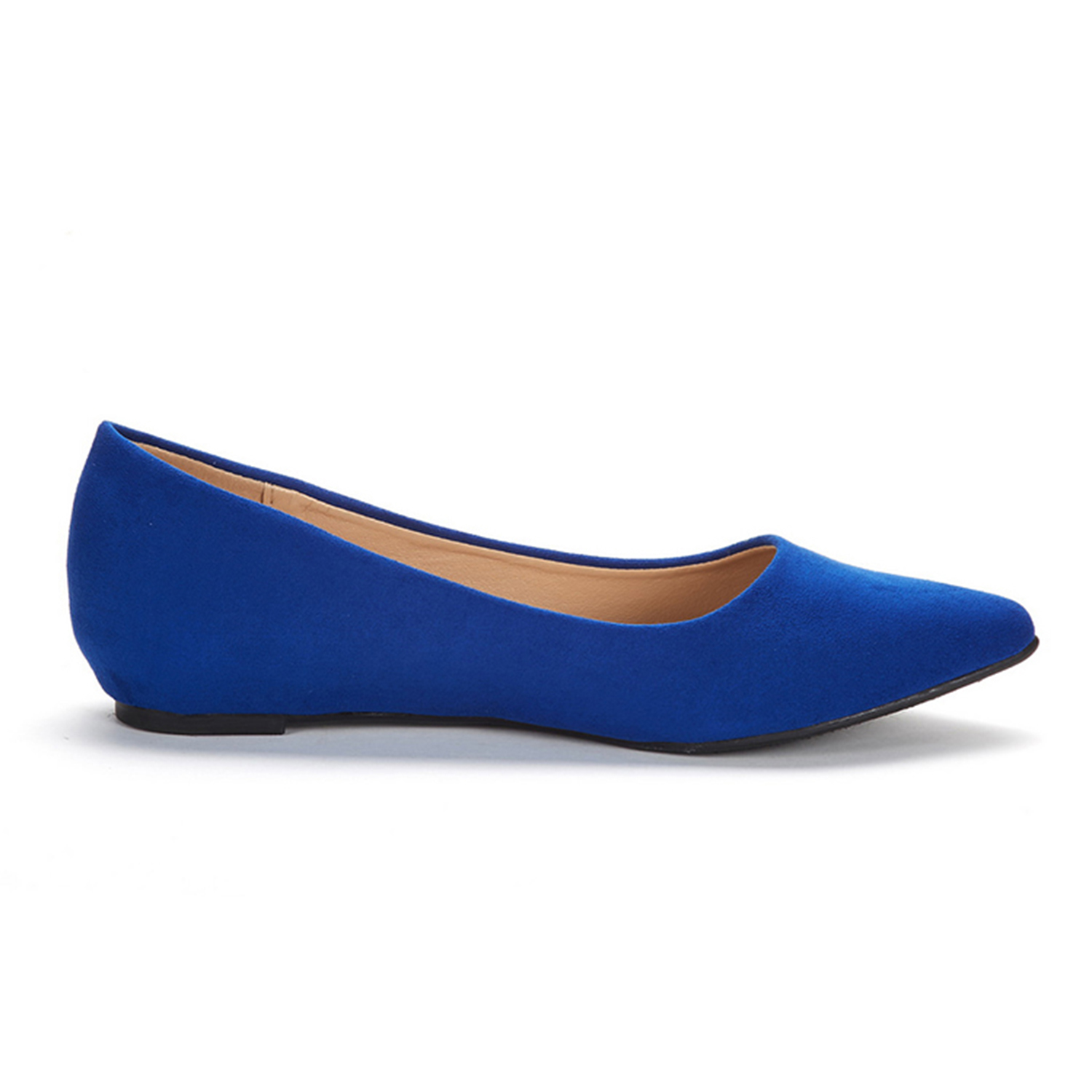 DREAM-PAIRS-Women-Low-Wedge-Flats-Ladies-Pointed-Toe-Slip-On-Comfort-Flat-Shoes thumbnail 12