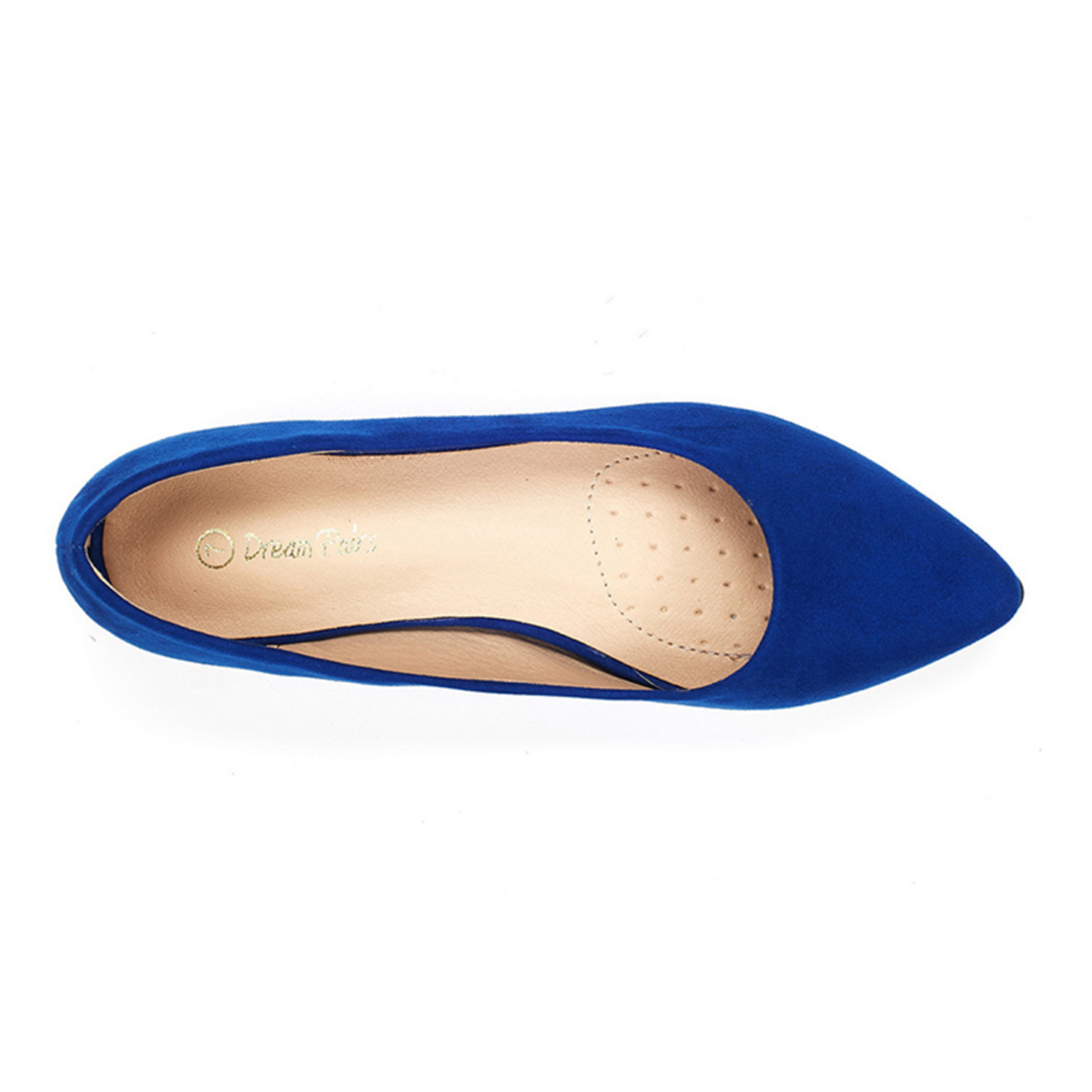 DREAM-PAIRS-Women-Low-Wedge-Flats-Ladies-Pointed-Toe-Slip-On-Comfort-Flat-Shoes thumbnail 13