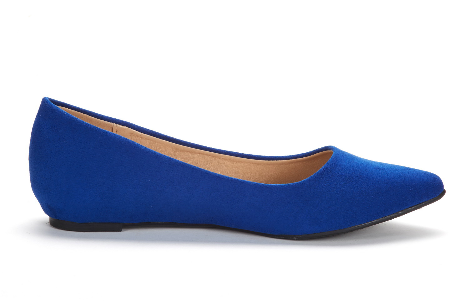 DREAM-PAIRS-Women-Low-Wedge-Flats-Ladies-Pointed-Toe-Slip-On-Comfort-Flat-Shoes thumbnail 16