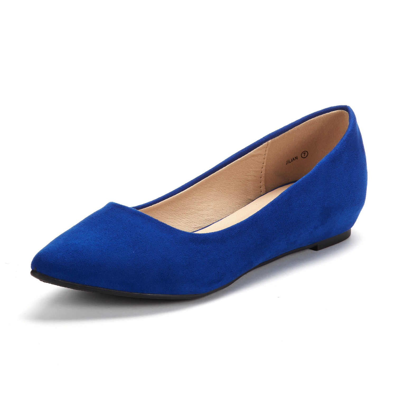 DREAM-PAIRS-Women-Low-Wedge-Flats-Ladies-Pointed-Toe-Slip-On-Comfort-Flat-Shoes thumbnail 14