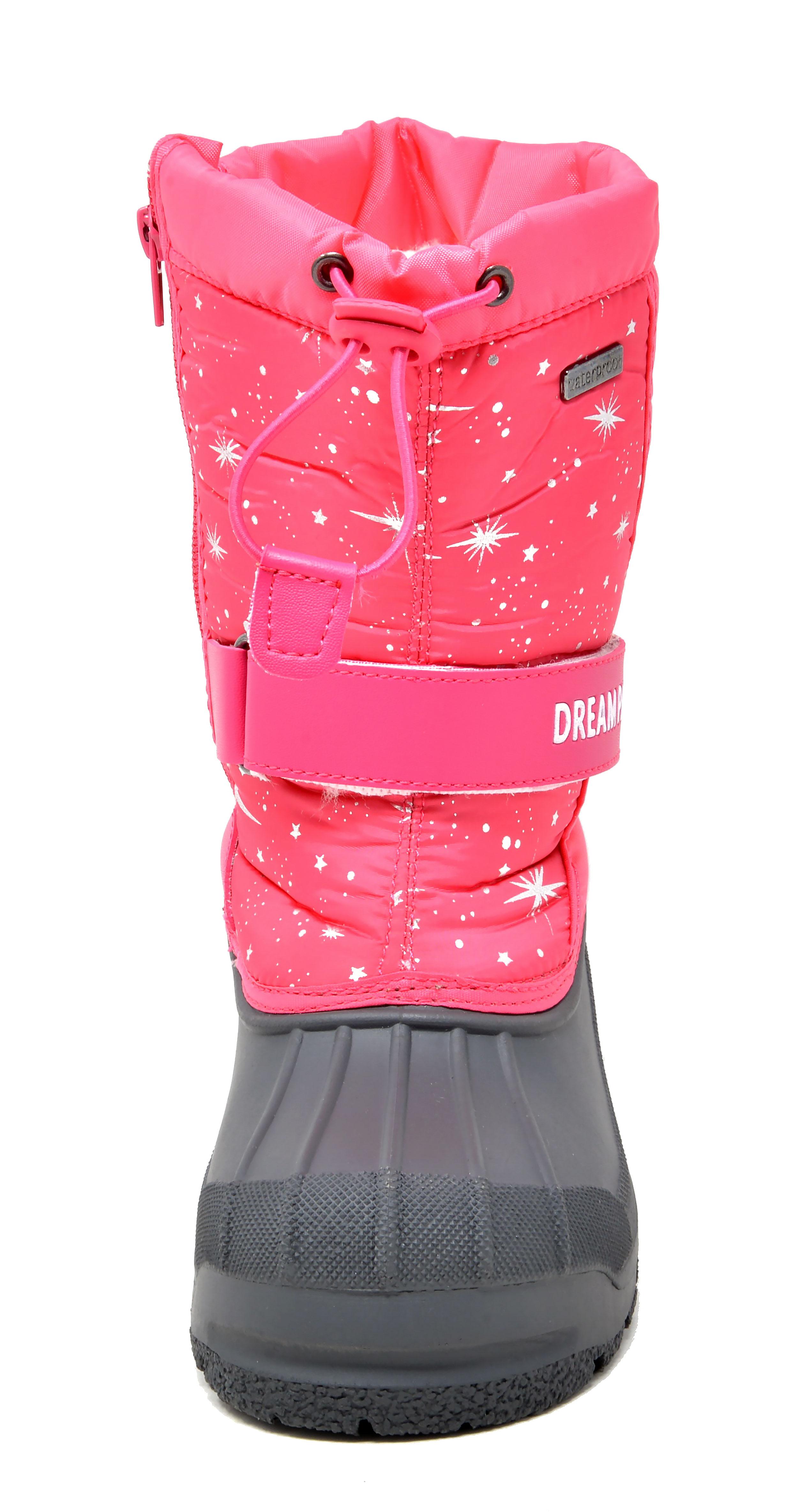 Kids Boys Girls Knee High Winter Insulated Snow Boots Warm Boots