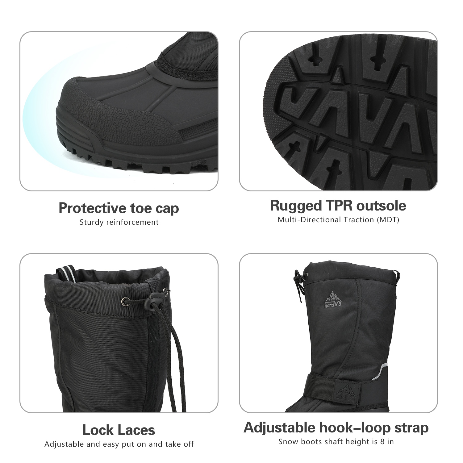 NORTIV-8-Men-039-s-Winter-Snow-Boots-Waterproof-Warm-Thermolite-Outdoor-Hiking-Boots thumbnail 6